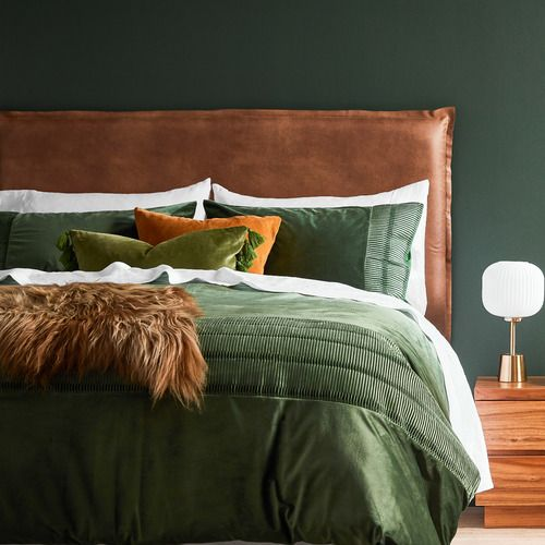 By Designs Tan Faux Leather Elsie Headboard with Slipcover & Reviews | Temple & Webster
