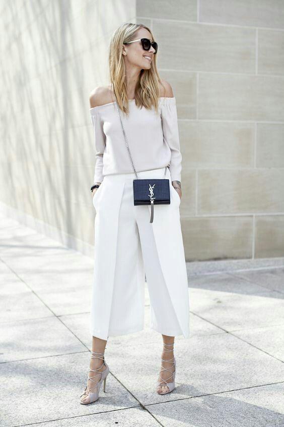Monochromatic, cropped pants