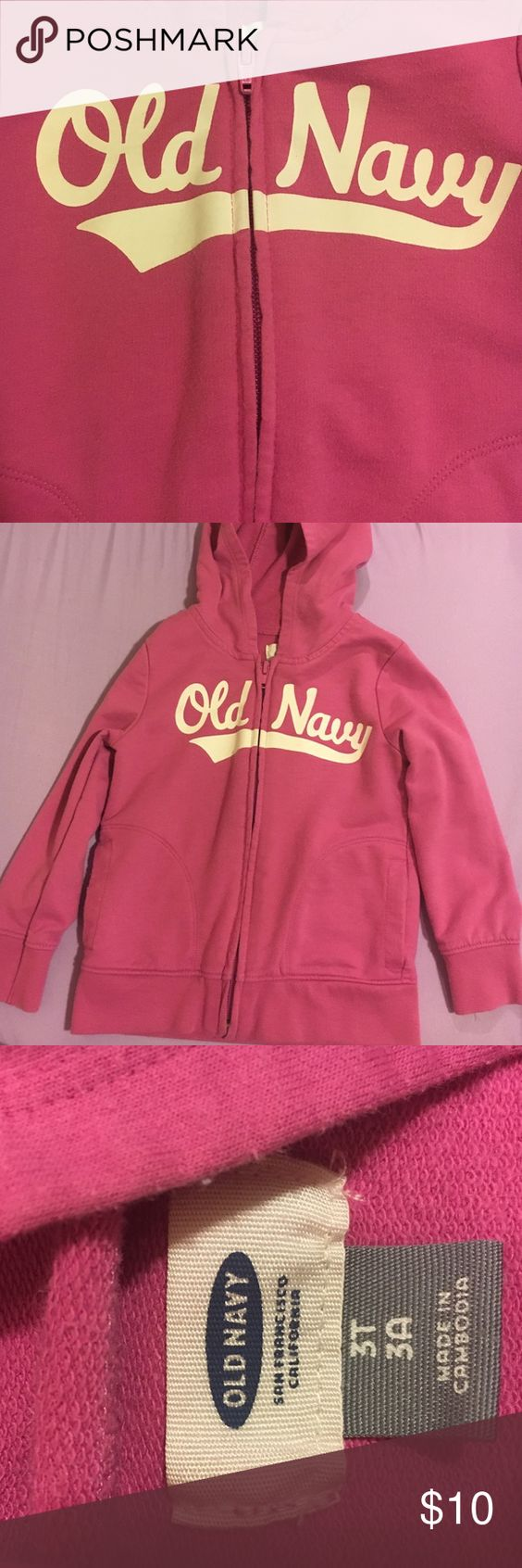 Toddler Girls hoodie Lightweight 3t jacket Old Navy Jackets & Coats