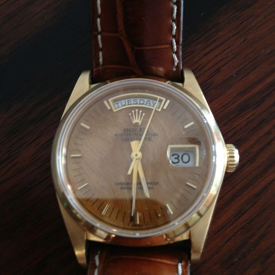 Vintage Rolex with wood face.