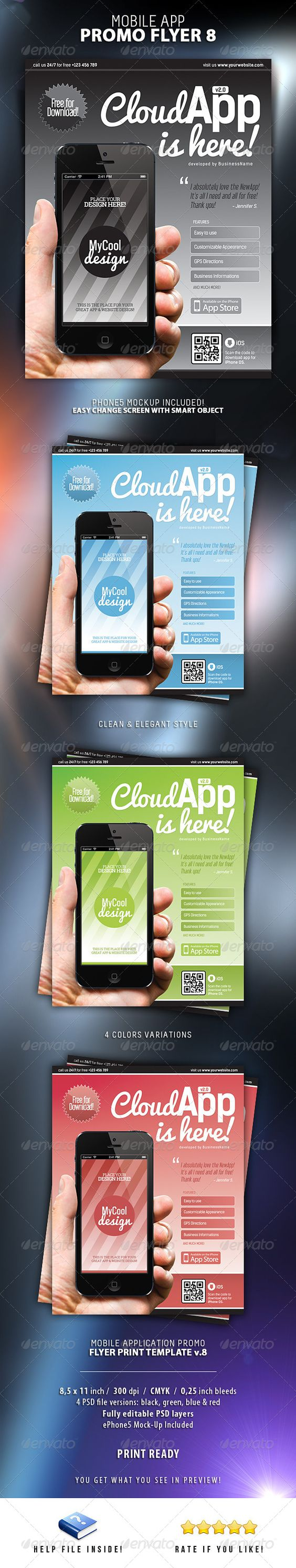 mobile app flyers 8 mobile app promotion and adobe buy mobile app flyers 8 by level studio on graphicriver mobile app flyers print template 8 a great flyer print template for promoting or advertising your