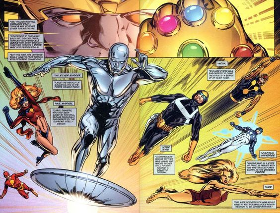 Thanos vs. Comet - Ms. Marvel - Silver Surfer - Starlord ...