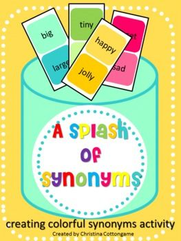 Colorful synonym, Synonym activities and Paint cans on ...