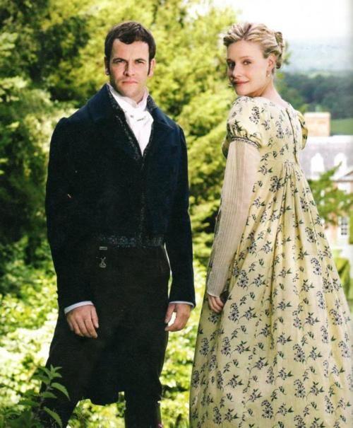 Jonny Lee Miller as Mr Knightley and Romola Garai as Emma Woodhouse in Emma. No todo lo que es obvio es real y no todo lo real es obvio. I Love Jane Austen.
