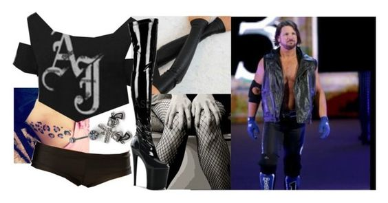 """""""Coming out on Raw with Aj Styles!!"""" by imblissedoff ❤ liked on Polyvore featuring Universal Lighting and Decor, Revolver, WWE and ajstyles"""
