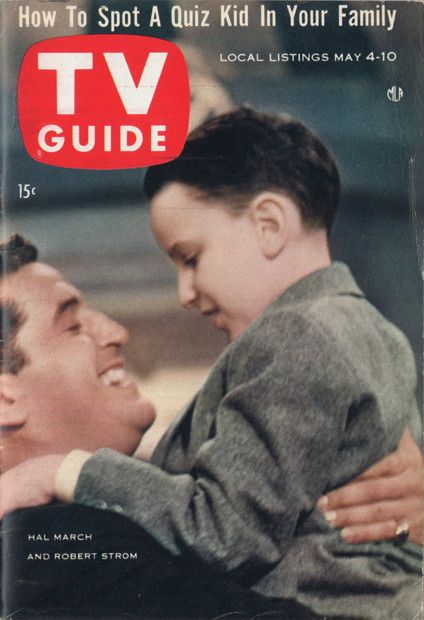 """Hal March and Robert Strom of """"The 64,000 Dollar Question""""  May 4-10 1957: Guide Covers, 60 S Tv, 19570504 C1, Hal March, Covers 1950S, Tv Guides"""