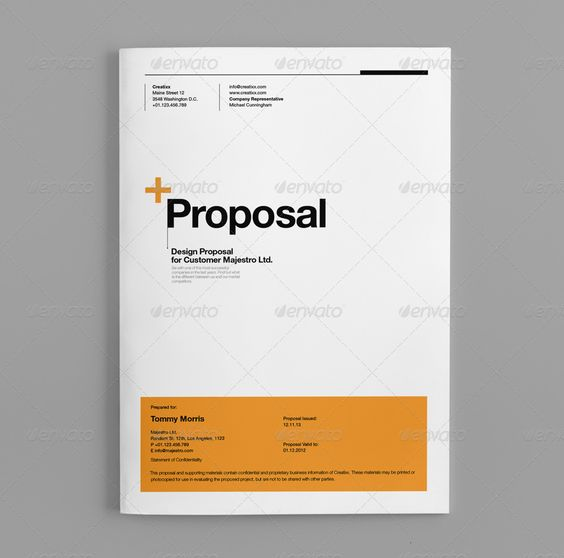 Proposal Proposals, Templates and Design - graphic design proposal example