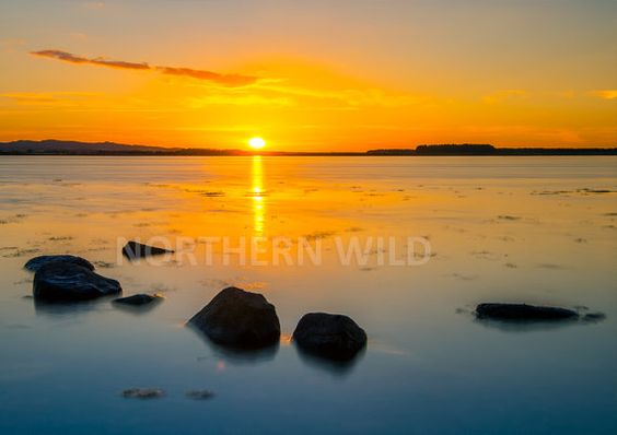 Glorious Yellow summer coastal Sunset over Budle by northernwilduk