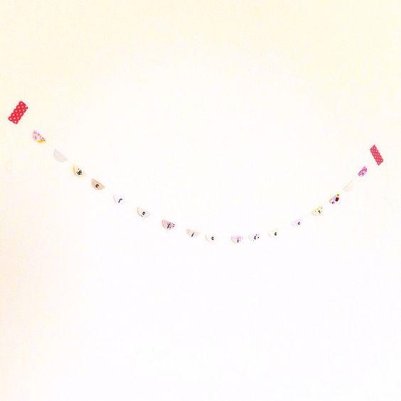 Slinger gemaakt voor een vriendin. #slinger #banner #happybirthday #gefeliciteerd #pink #roze #papier #paper
