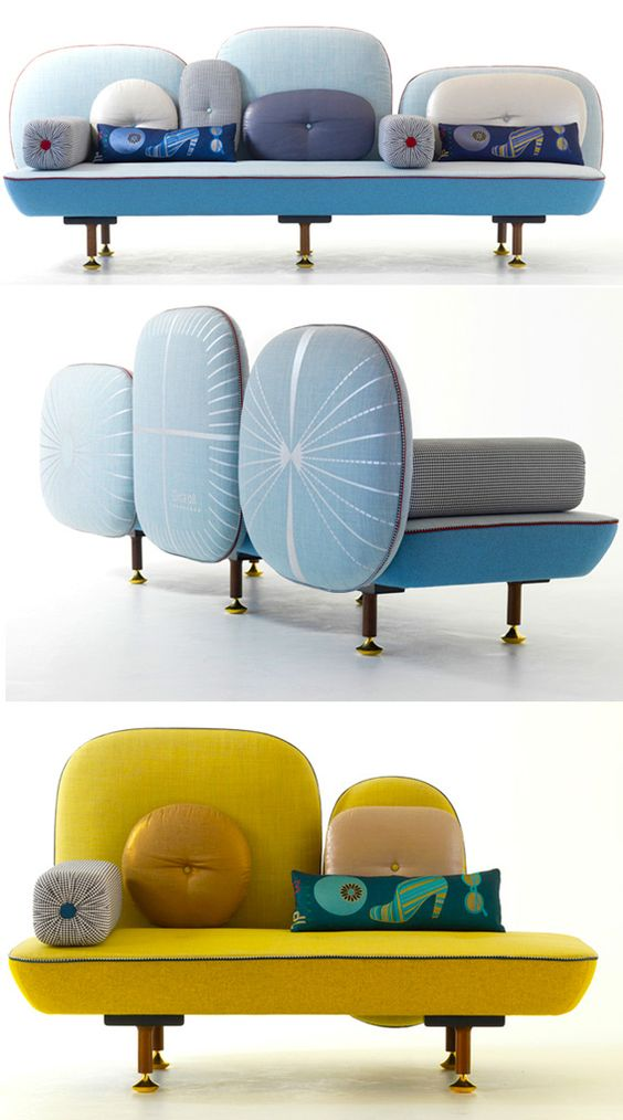 A la place d'un fauteuil une petite banquette ou une méridienne