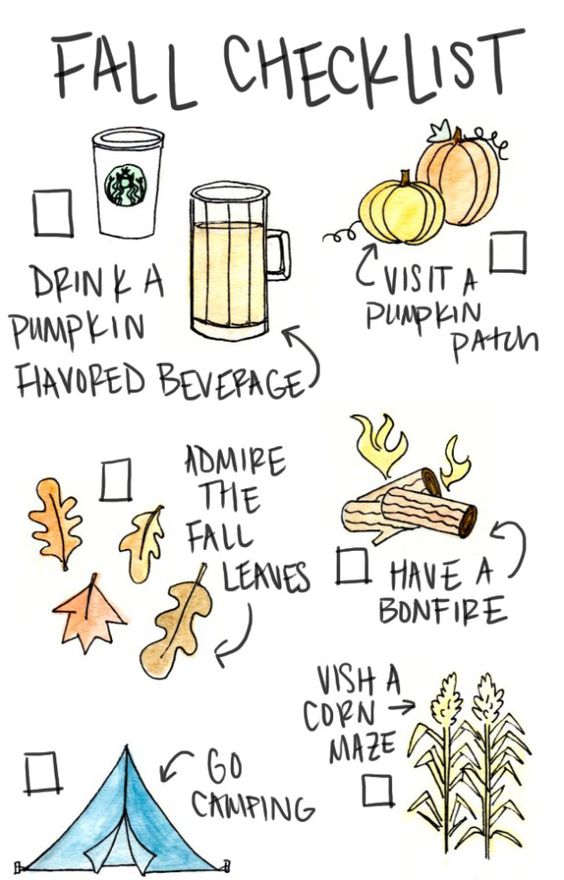 Print out your fall checklist and get started checking for Cool things to print out