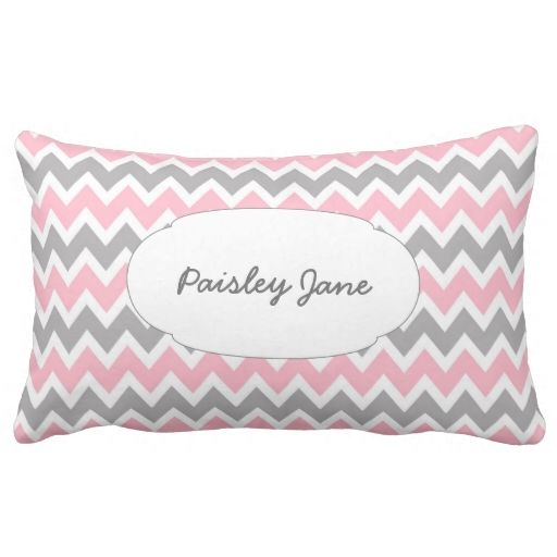 New baby girl pillow with name and birth stats