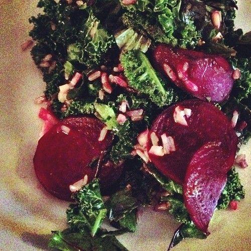 Warm Kale Beet Salad