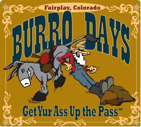 One of my favorite #Colorado events, Burro Days!  www.burrodays.com (artwork by Scott Bullock)