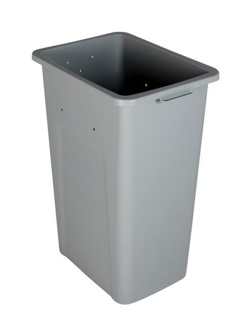 32 Gallon Skinny Plastic Home & Office Trash Can or Recycling Bin (4 ...