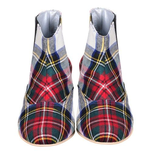 Stewart Dress #tartan Chelsea boots