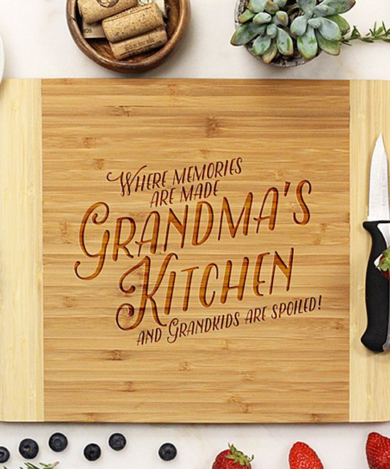 'Where Memories Are Made' Personalized Bamboo Cutting Board
