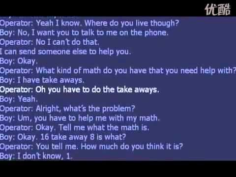 4 year old calls 911 to help him with his math