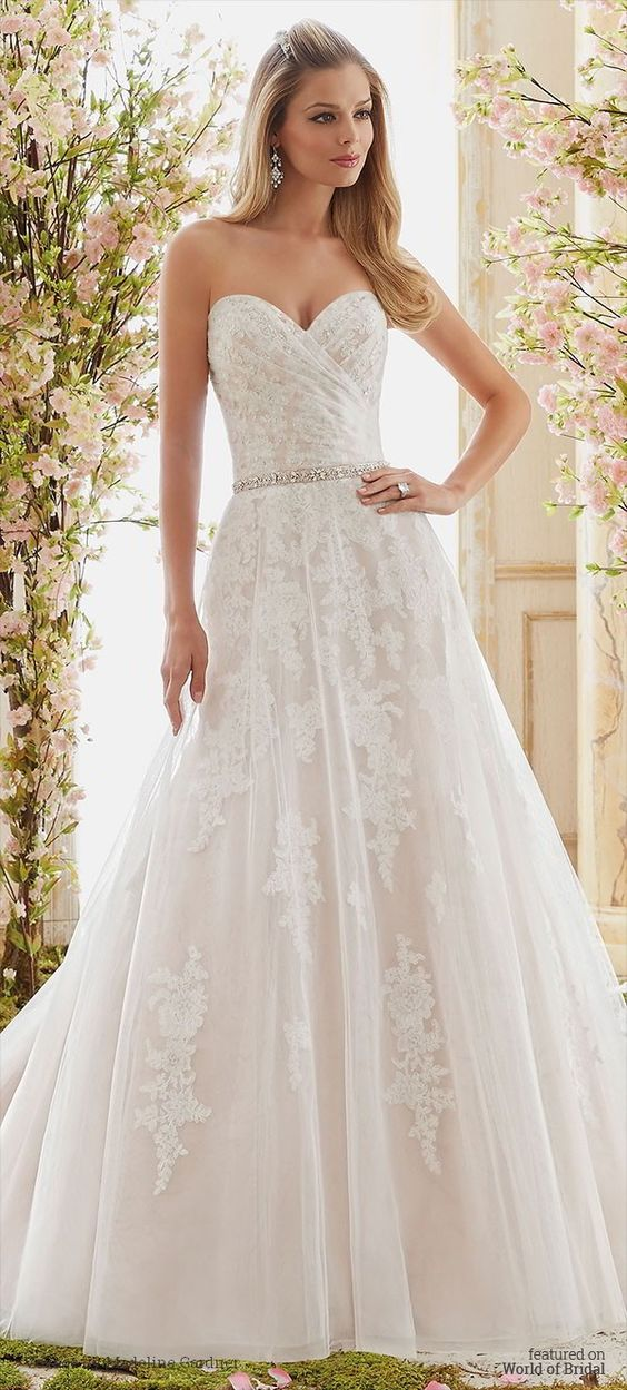 Romantic Soft Tulle Overlays Delicately Beaded Alencon Lace Appliques Wedding Dress
