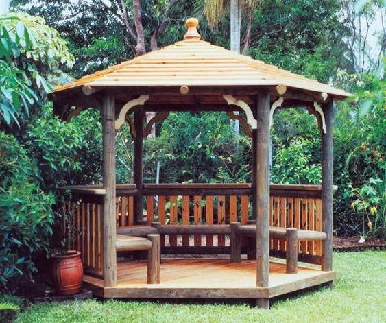 spitzdach sitzecke pergola selber bauen Garten Pinterest - garten sitzecke selber bauen