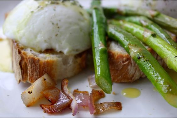 #Food: French Bread Eggs Benedict with Asparagus | #Recipe via @food52