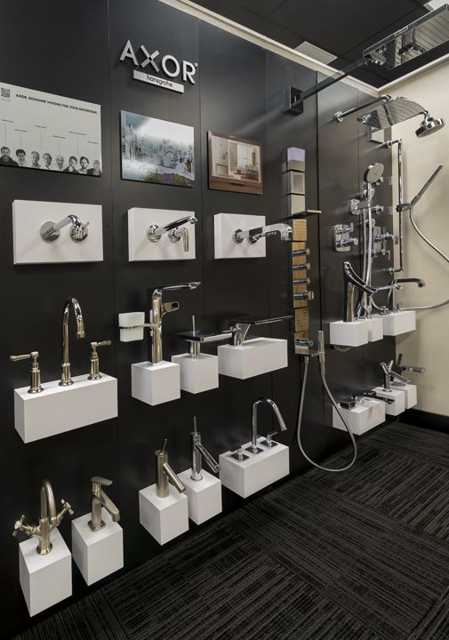 Bathroom Fixtures Miami dornbracht display at our new showroom in the miami design
