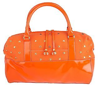 ISAACMIZRAHILIVE! Double Handle Studded Satchel - QVC.com