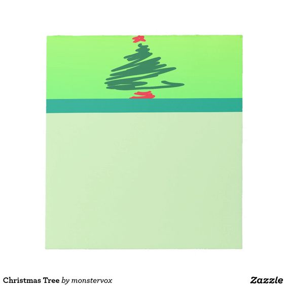 Christmas Tree Memo Notepads #MerryChristmas #ChristmasTree #Christmas #Holiday #MemoPad #NotePad