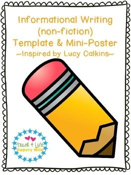 Student informational writing and paper on pinterest for Informative poster template