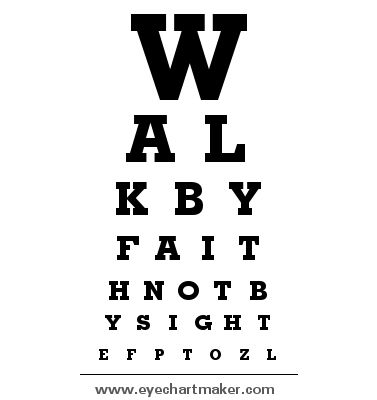 Image result for faith eyesight