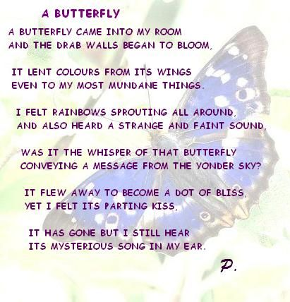 """Essay on """"If I were a Butterfly"""""""