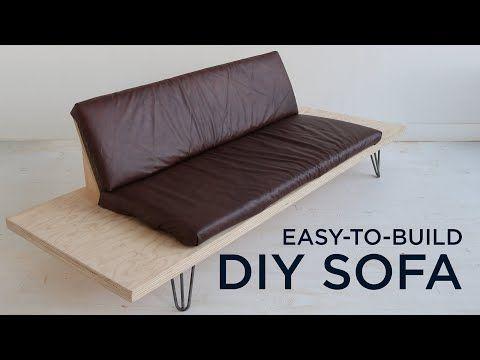 Easy To Build Diy Sofa Youtube In 2020 Diy Sofa Simple Sofa Homemade Sofa