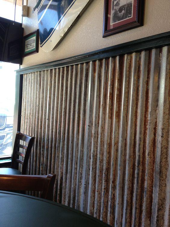 Nice Metal Chair Rail Ideas Part - 4: Marvelous Wonderful Metal Chair Rail Part 8: Tin Chair Rail Option Rustic  Living Space Pinterest