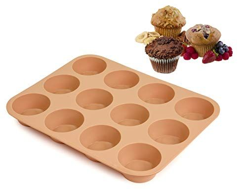Silicone Muffin Pan 12 Silicone Mold Large Cupcake Pan Non