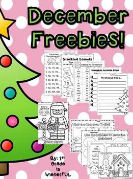 math worksheet : december worksheets 14 pages of free printables literacy center  : December Math Worksheets