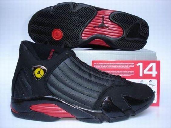 b6f35eaaf1076b Jordan Shoes Air Jordan 14 Retro Last Shot Black Varsity Red  Air Jordan 14  - The Air Jordan Retro 14 (XIV) Last Shot featured a Black Varsity Red  colorway.