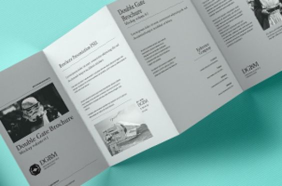 This is the back version of our psd double gate fold style - gate fold brochure mockup