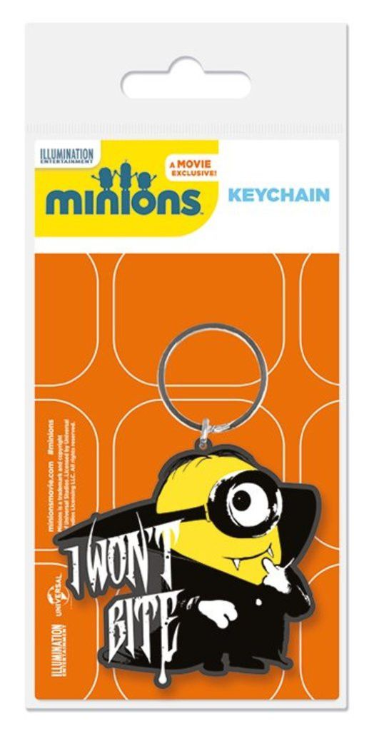 Minions - I Won't Bite - Rubber Key Ring