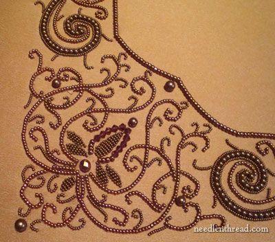 Beaded matting embroidered by Larissa Borodic and designed by Irina Rudneva  http://www.needlenthread.com/2011/06/beadwork-inspiration-embroidered-mat.html?utm_source=feedburner_medium=feed_campaign=Feed%3A+needlenthread+%28Needle%27nThread.com%29