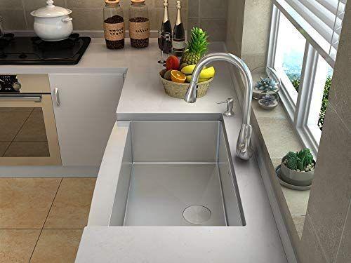 stainless steel farmhouse kitchen sinks