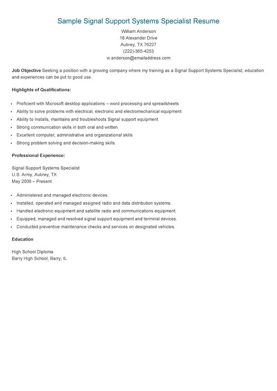 We\u0027ll Help You Write About Me Essay For College Computer Science - signal support systems specialist sample resume