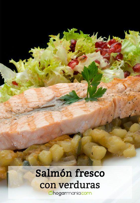Receta De Salmón Fresco Con Verduras Karlos Arguiñano Receta Salmon Recetas Recetas De Salmon Fresco Verduras