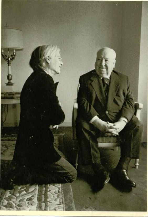 Andy Warhol & Alfred Hitchcock, 1974