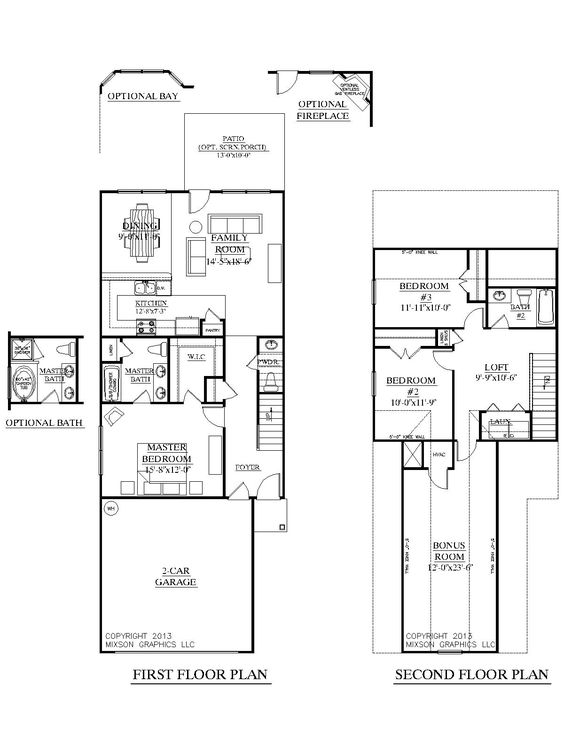 Plan 1481 clarendon floor plan two story plan designed for 2 story house plans with loft