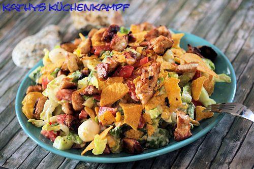 Hähnchen-Tortilla-Salat - http://kathys-kuechenkampf.de/haehnchen-tortilla-salat/