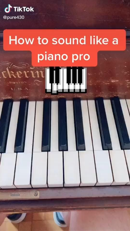 How To Sound Like A Pro On Piano Video Piano Music Piano Piano Music Easy