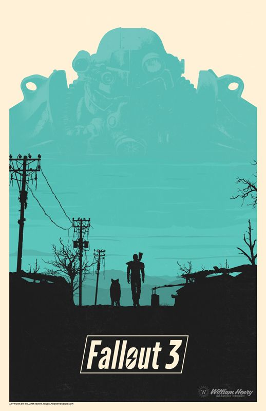 Fallout 3 Poster - Created by William Henry Now available for sale exclusively at William's Shop. You can also follow him onTwitter and on Facebook.