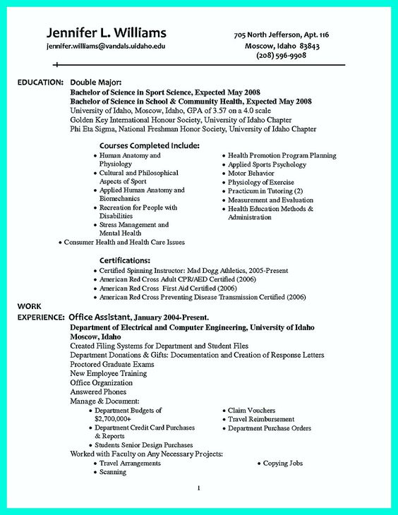 awesome The Perfect College Resume Template to Get a Job, Check - beta gamma sigma resume