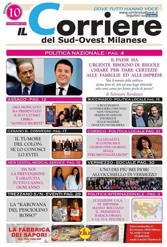 "Parla di noi ""Il Corriere del Sud-Ovest Milanese""!  http://www.finchesponsornonvisepari.blogspot.it/2014/11/parla-di-noi-il-corriere-del-sud-ovest.html  #finchesponsornonvisepari #matrimonio #saraheluciano #lowcost #nozzeconsponsor #risparmio"