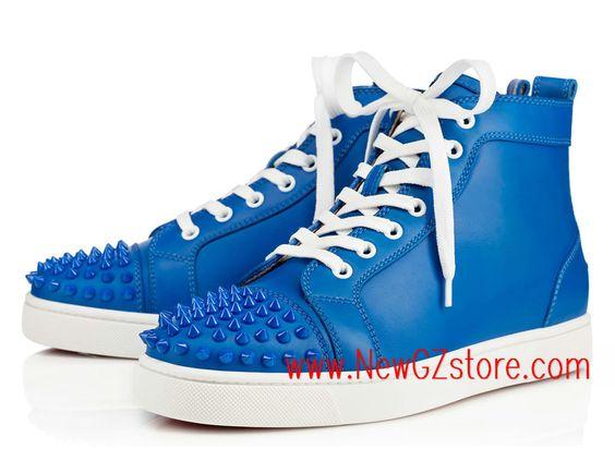 replica shoes christian louboutin - Christian Louboutin Lou Spikes Calf Louboutin Pas cher Basket Pour ...